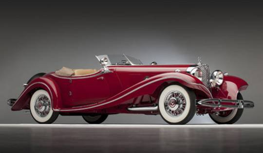 Раритетный Mercedes-Benz 500 K Roadster 1935 года