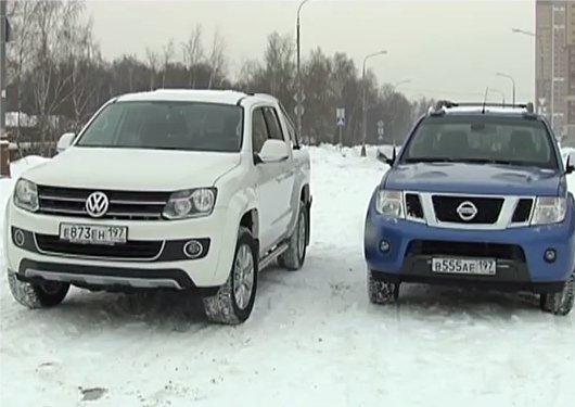 Volkswagen Amarok vs Nissan Navara — Наши тесты