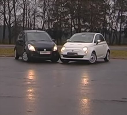 Fiat 500 vs Suzuki Splash — Автопанорама