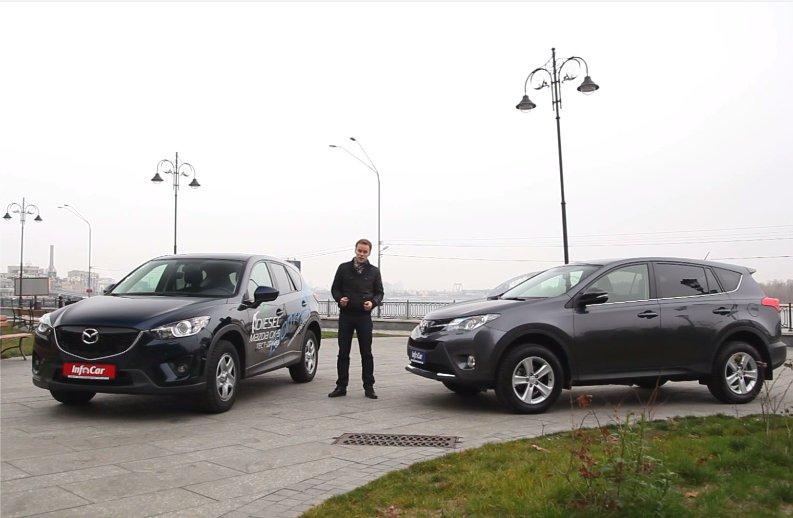 Mazda CX-5 2.2D vs Toyota RAV4 2.2D 2014 — InfoCar