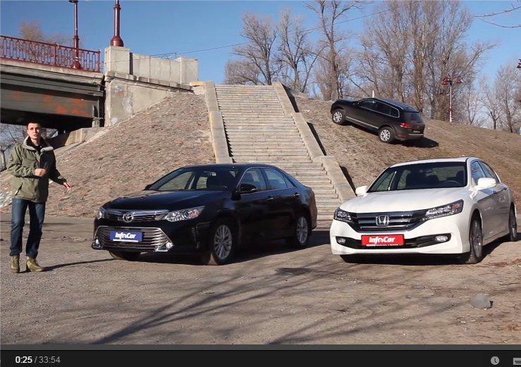 Toyota Camry 2.5i vs Honda Accord 2.4i //InfoCar