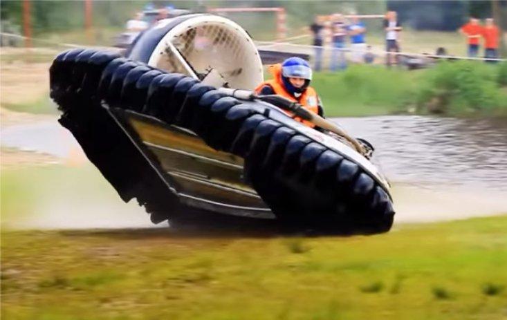 Мотоциклы на воздушной подушке. Гран при Европы.