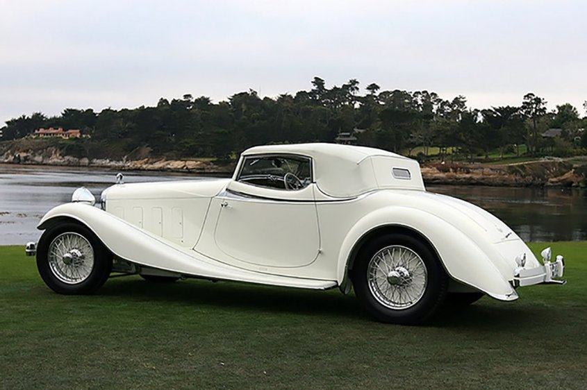 Delage D8S Roadster by Villars 1933 сзади