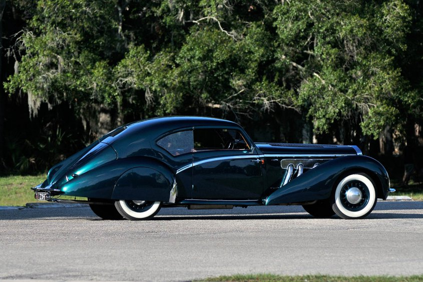 Delage D8 120 Aerodynamic Coupe 1937-38 сбоку