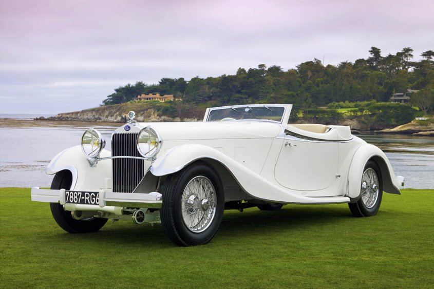 Delage D8S Roadster by Villars 1933 спереди