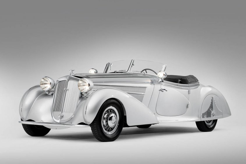 1938 Horch 853A Special Roadster спереди