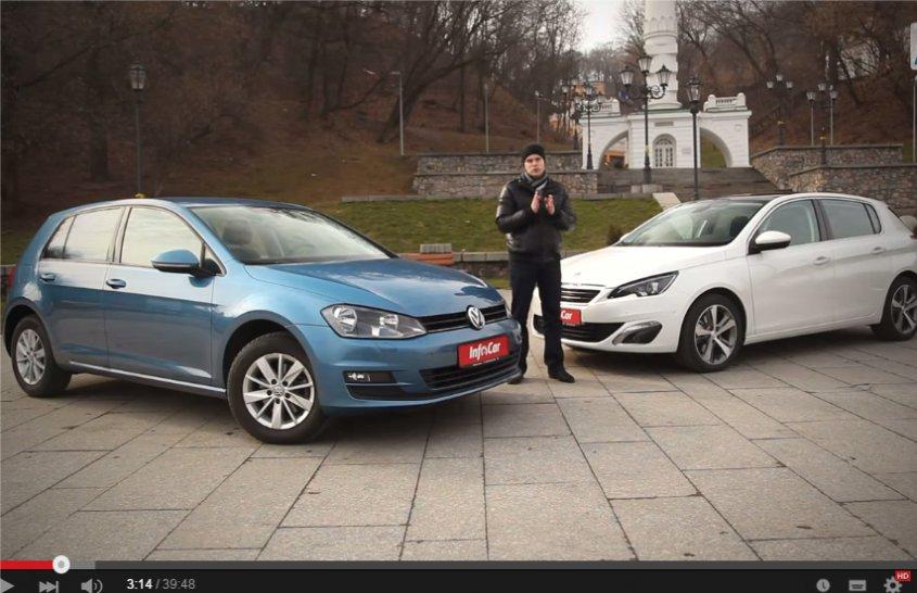 Peugeot 308 1.6i vs Volkswagen Golf 1.4i //InfoCar