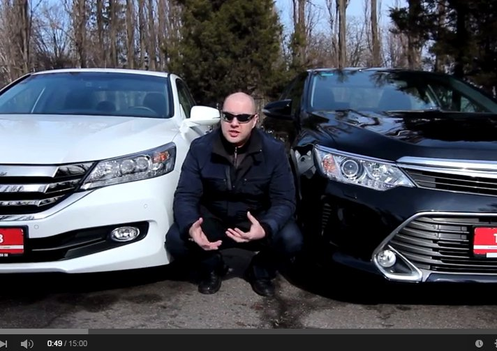 Toyota Camry 2015 vs Honda Accord 2015 //Две Лошадиные Силы