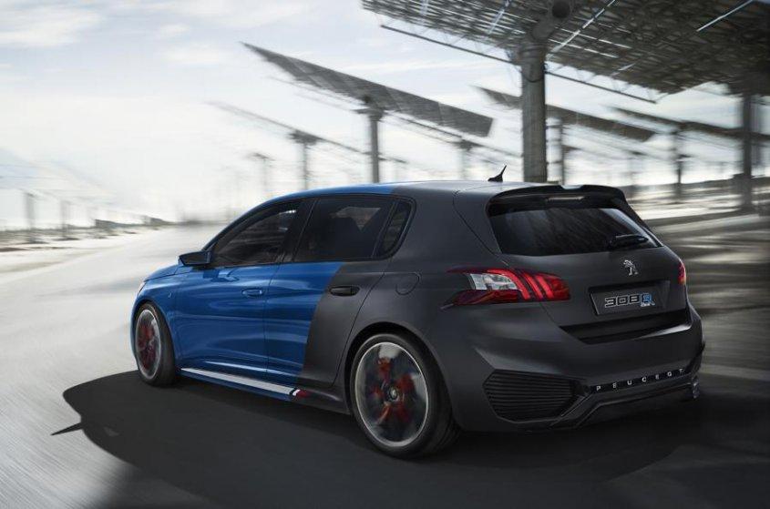 Peugeot 308 R Hybrid _вид сзади