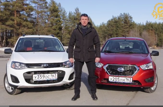 Lada Kalina 1.6i vs Datsun mi-DO 1.6i //Игорь Бурцев