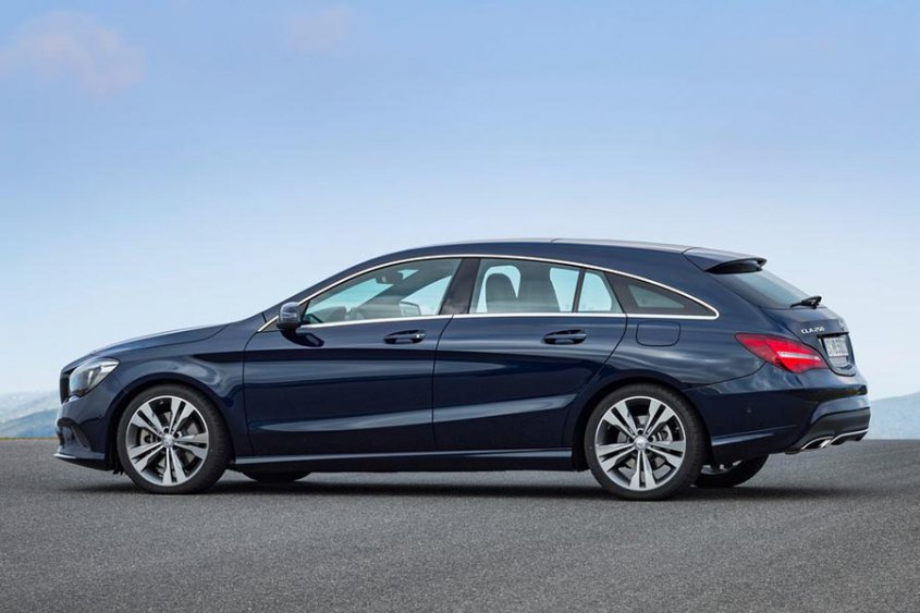 Mercedes-Benz CLA-Class Shooting Brake 2017 сбоку