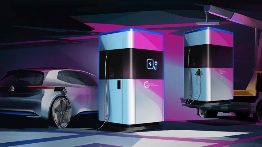 Volkswagen распространит станции мобильной зарядки