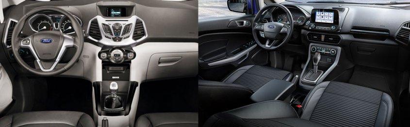 сравнение интерьера форд экоспорт