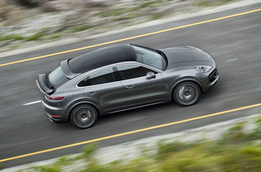 Porsche Cayenne Turbo Coupe 2019 сверху