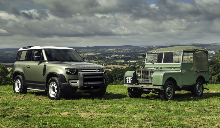 old and new Defender 2020