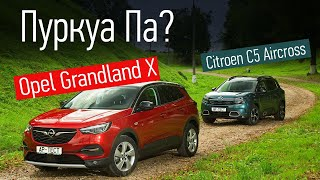 Opel Grandland X против чистокровного француза Citroen C5 Aircross