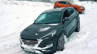 Nissan X-Trail vs Hyundai Tucson 2019 // Clickoncar